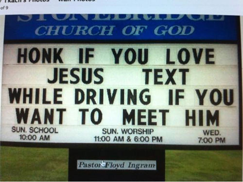 funny church signs Text
